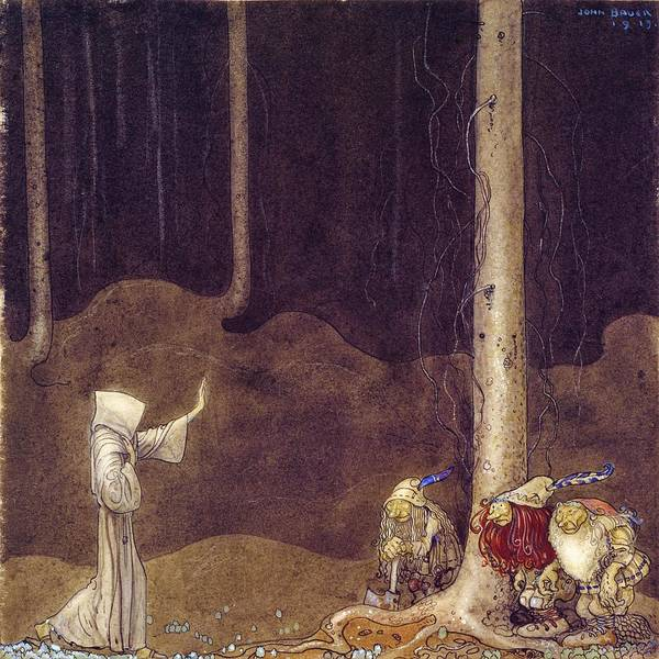 Wall Art - Painting - St. Martin And The Three Trolls - Digital Remastered Edition by John Bauer