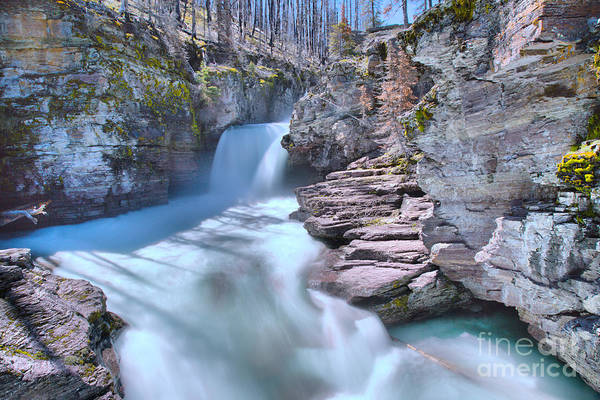 Photograph - St. Mary Falls Spring 2019 by Adam Jewell