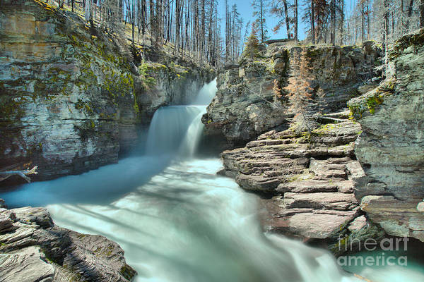 Photograph - St. Mary Falls Spring 2019 Landscape by Adam Jewell