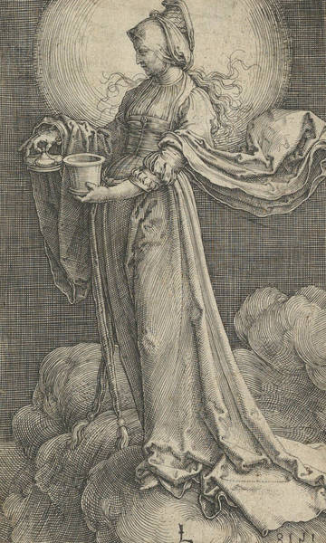 16th Century Wall Art - Relief - St. Mary Magdalene On The Clouds by Lucas van Leyden