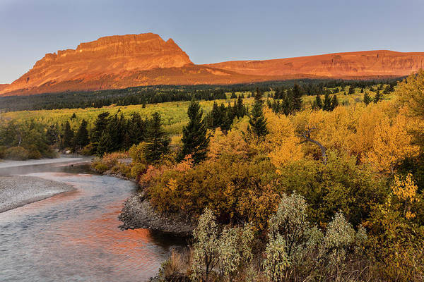 Wall Art - Photograph - St Mary River And Singleshot Mountain by Chuck Haney