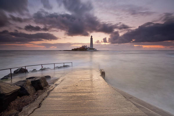 St. Mary Photograph - St Mary's Lighthouse by Anita Nicholson