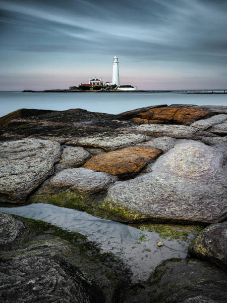 St. Mary Photograph - St Mary's Lighthouse by Dave Bowman