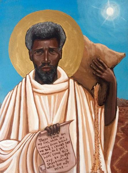 Painting - St. Moses The Black by Kelly Latimore