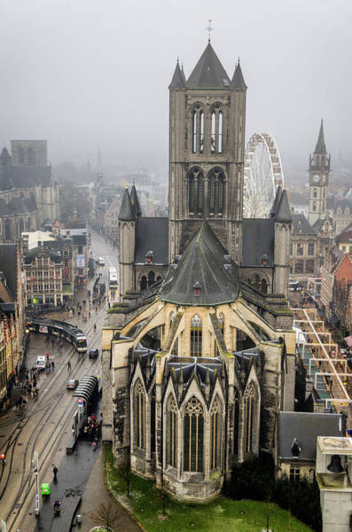 Photograph - St. Nicholas Church, Ghent. by Pablo Lopez