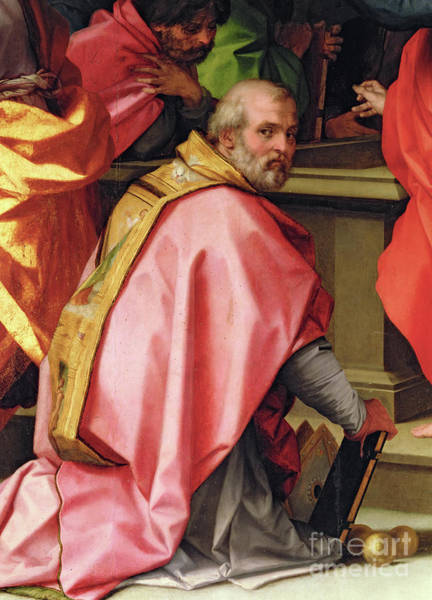 Wall Art - Painting - St Nicholas Of Myra With 3 Golden Balls by Andrea Del Sarto