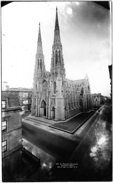 Photograph Photograph - St Patricks Cathedral by The New York Historical Society