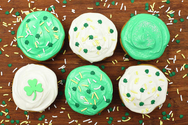 Sprinkles Photograph - St. Patricks Cupcakes by Dustypixel