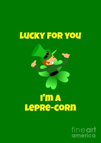 Digital Art - St  Patricks Day Lucky Leprechaun by Barefoot Bodeez Art