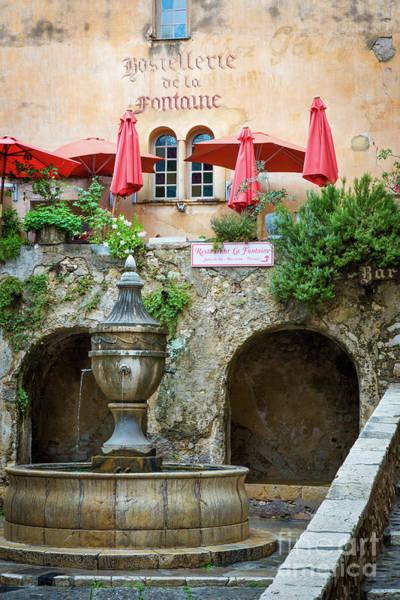 Photograph - St Paul De Vence Fountain by Brian Jannsen