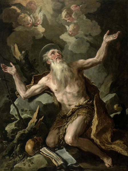 Wall Art - Painting - St. Paul The Hermit, 1690 by Luca Giordano