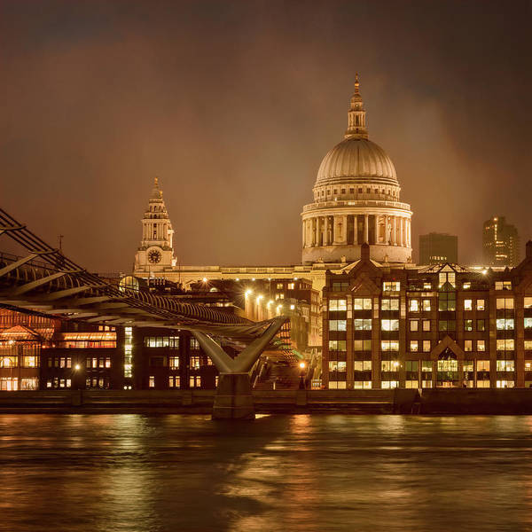 Photograph - St Paul's Cathedral And Millennium Bridge London by Joan Carroll