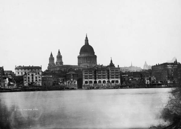 Bankside Photograph - St Pauls From River by London Stereoscopic Company