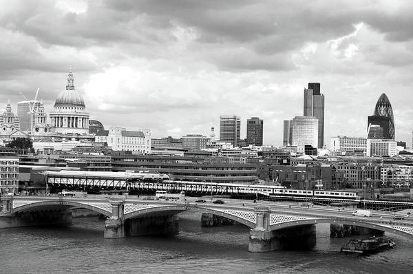 Riverside California Photograph - St Pauls To Gherkin London 5 In Grey by Valmol48