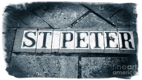 Photograph - St. Peter Street Tiles In New Orleans by John Rizzuto