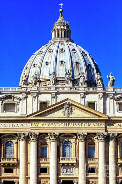 Photograph - St. Peter's Basilica Colors In Vatican City by John Rizzuto