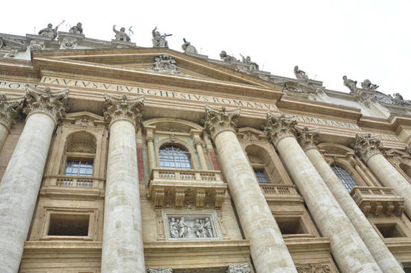 Photograph - St. Peter's Cathedral Facade  by JAMART Photography