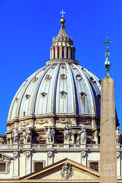 Photograph - St. Peter's Cupola In Rome by John Rizzuto