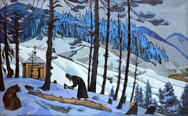 St Nicholas Painting - St Sergius The Builder - Digital Remastered Edition by Nicholas Roerich