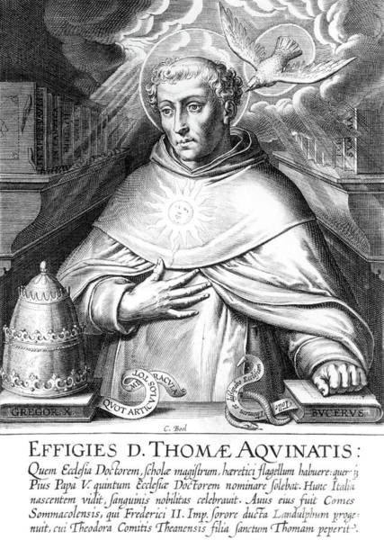 Wall Art - Drawing - St Thomas Aquinas, Engraving by Cornelis Boel
