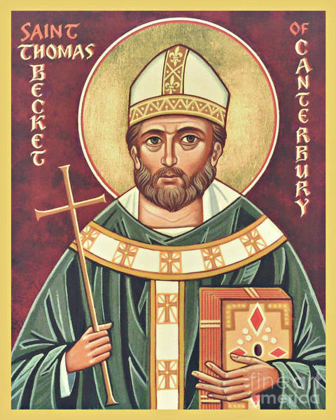 Painting - St. Thomas Becket - Jcthb by Joan Cole
