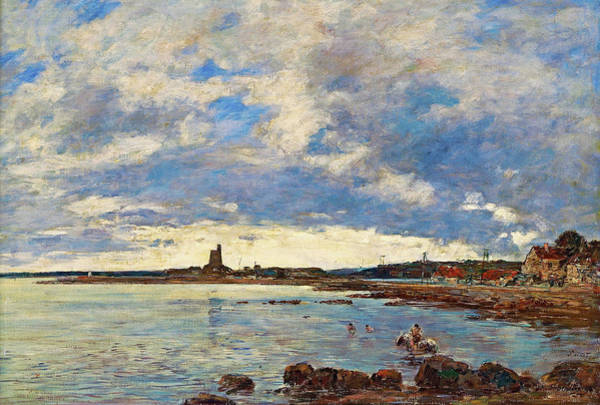French Painter Painting - St. Vaast-la-hougue - Digital Remastered Edition by Eugene Louis Boudin