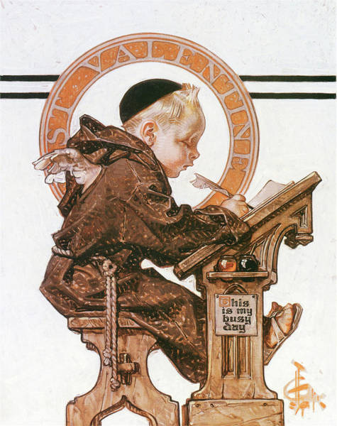 Wall Art - Painting - St. Valentine's Day - Digital Remastered Edition by Joseph Christian Leyendecker