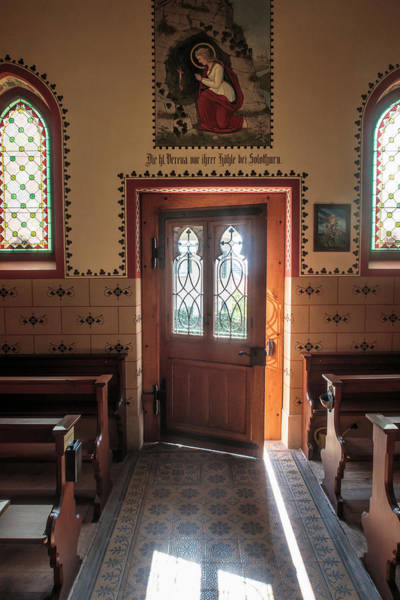 Photograph - St. Verena And The Sunlit Door by Mary Lee Dereske