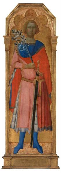 Wall Art - Painting - St Victor Of Siena  by Master of Palazzo Venezia Madonna