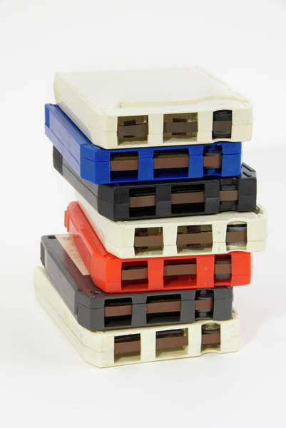 City Of David Photograph - Stack Of 8-track Tapes From The by David Mcglynn