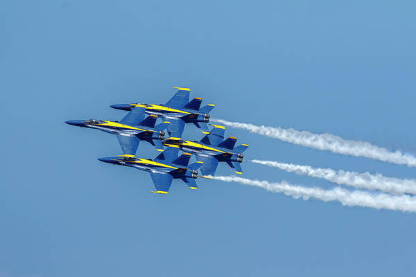 Photograph - Stacked Blue Angels by Wes and Dotty Weber