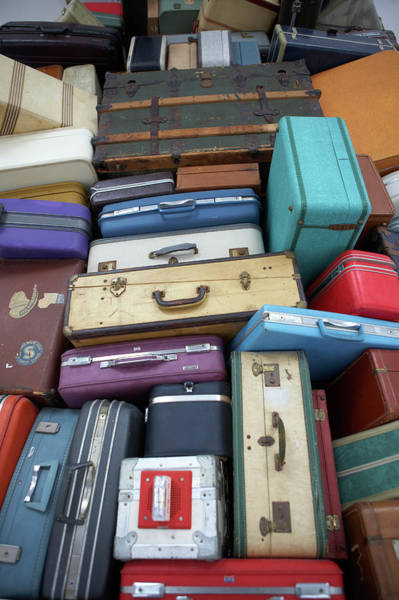 Wall Art - Photograph - Stacked Suitcases by Jason Todd