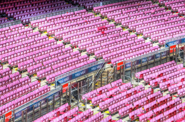 Wall Art - Photograph - Stadium Seating Nou Camp by David Pyatt