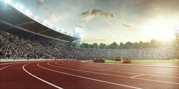 Sport Venue Photograph - Stadium With Running Tracks by Dmytro Aksonov