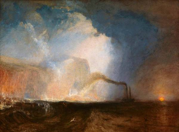 Cruiser Painting - Staffa, Fingal's Cave - Digital Remastered Edition by William Turner