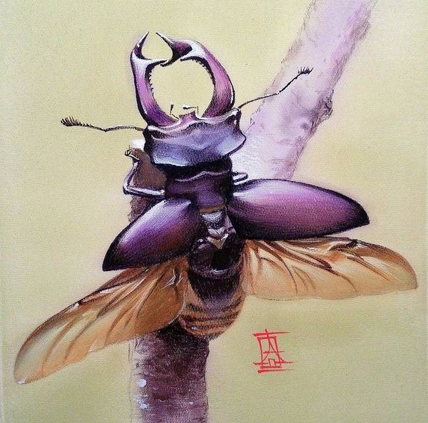Painting - Stag Beetle by Alina Oseeva