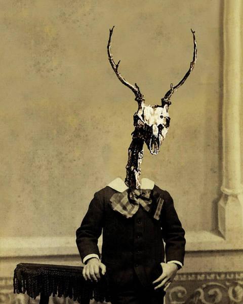 Deer Skull Digital Art - Stag Boy by Loveday Funck