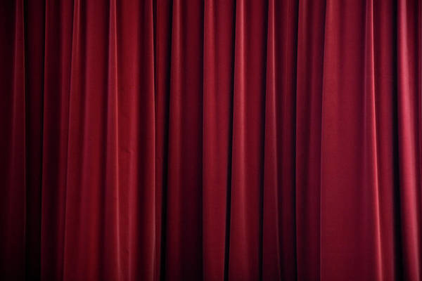 Texture Photograph - Stage Curtain Red Velvet by Mlenny
