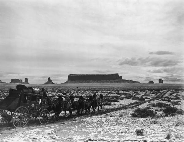 Stagecoach Photograph - Stagecoach by Hulton Archive