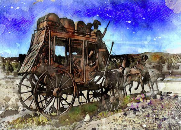 Digital Art - Stagecoach by Mark Jackson