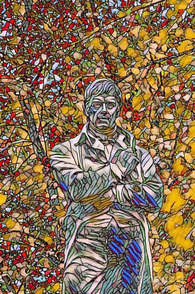 Robbie Digital Art - Stain Glass Digital Representation Of Robbie Burns by John Malone