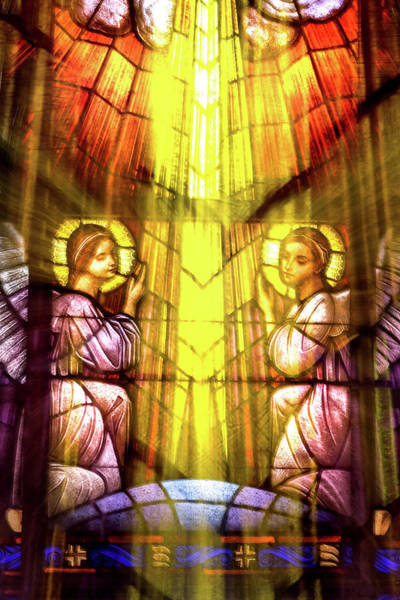 Photograph - Stained Glass Angels by Don Johnson