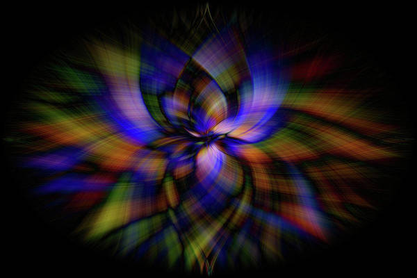 Wall Art - Photograph - Stained Glass Petal Power by Bridget Calip