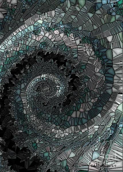 Wall Art - Digital Art - Stained Glass Spiral by Elizabeth McTaggart