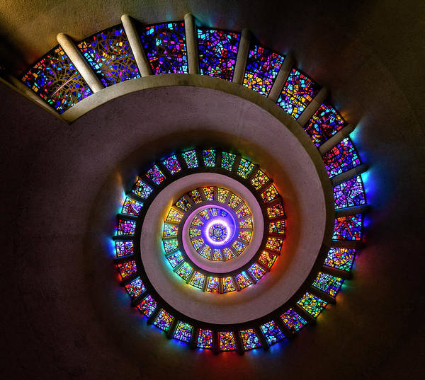Photograph - Stained Glass Spiral by Michael Ash