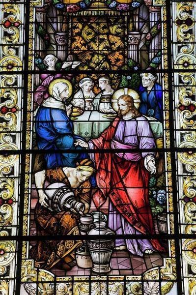 Church Of Jesus Christ Photograph - Stained Glass Window Depicting A by Design Pics / Perry Mastrovito