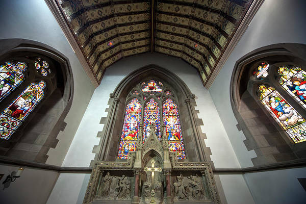 Church Of Scotland Wall Art - Photograph - Stained Glass Windows In St. Andrews by John Short / Design Pics
