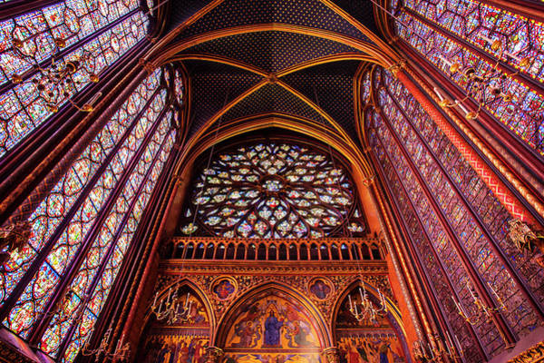 Chapelle Photograph - Stained Glass Windows In Upper Chapel by Danita Delimont