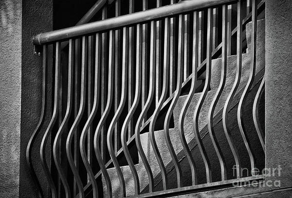 Wall Art - Photograph - Stair Shadows Black And White by Karen Adams