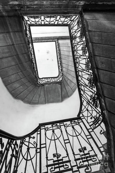 Rotating Wall Art - Photograph - Staircase In Budapest by Delphimages Photo Creations